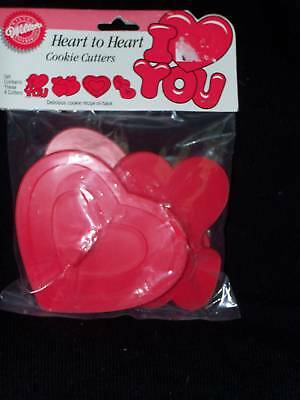 Wilton 1990 Valentine Cookie Cutter Set 4 NIP