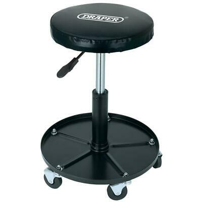 DRAPER 73847 Adjustable Roller Padded Mechanic Work Stool Seat, Garage Workshop