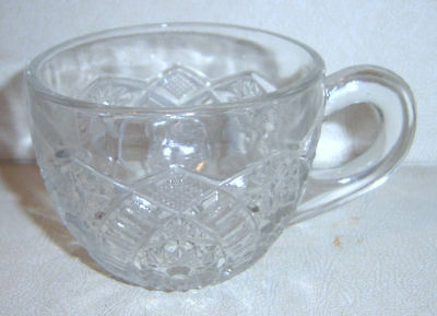Imperial EAPG Clear Long Hobstar Punch Cup