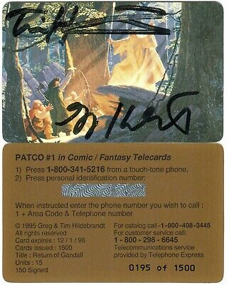 Hildebrandt Brothers LOTR Return Of Gandolf signed PC