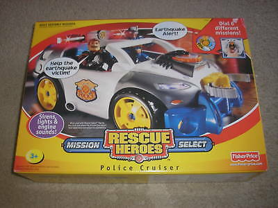 New Fisher Price Rescue Heroes Police Cruiser