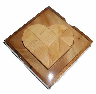 Heart Tangram - 9 pc all hardwood with cover