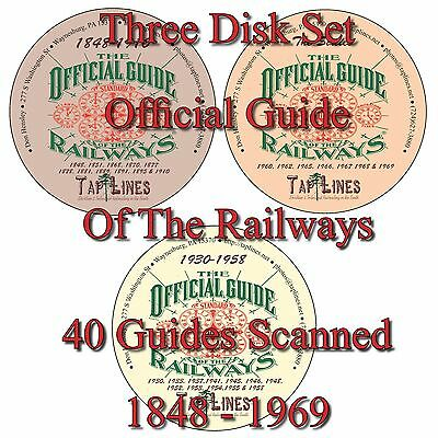 OFFICIAL GUIDE OF RAILWAYS COLLECTION 1848-1969 on DVDs