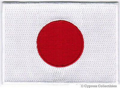 JAPAN FLAG embroidered iron-on PATCH JAPANESE EMBLEM applique Nippon-koku NEW