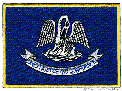 LOUISIANA STATE FLAG embroidered iron-on PATCH EMBLEM