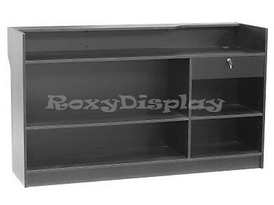 Register Black Stand Display Case Store Fixture Wood Knocked Down #LTC6BK