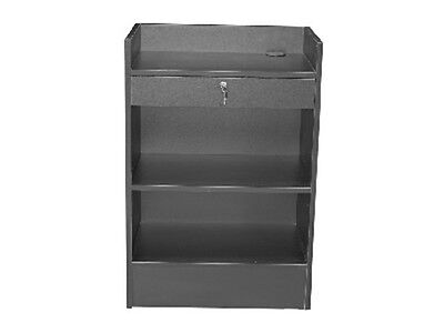 Cash Register Black Stand Top Shelf Display Store Fixture Knocked Down #SCR-CBK