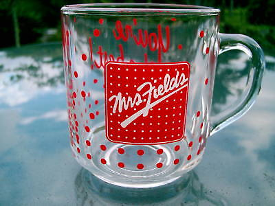 Mrs. Fields GLASS YOU'RE THE BEST! COFFEE CUP MUG RED