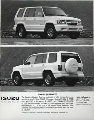 2000 Isuzu Trooper Press Photo y Press Release