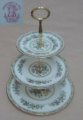 "Foley ""Ming Rose"" THREE TIER CAKE STAND"