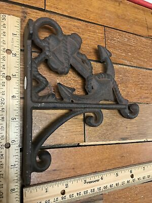 ANCHOR PLANT Wall HOOK 7.5x6.5 Rustic cast iron Nautical Boat Sea Vintage Style