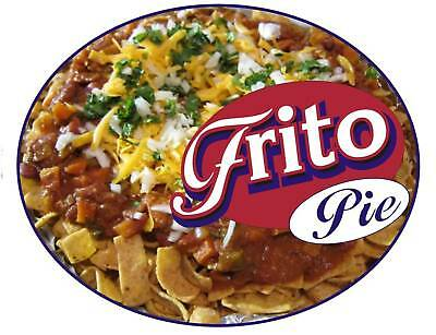 "Frito Pie Concession Decal 12"" Food Vendor Truck Sign"