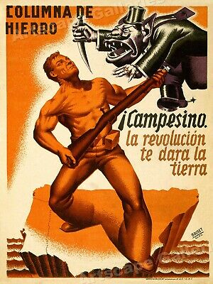 The Iron Column - 1930s Spanish Civil War Print - 24x32