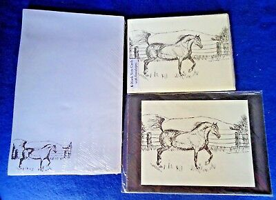 Arabian Horse 3 Piece Set-Notepad, 6 Blank Notecards and Print