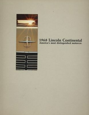 1968 Lincoln Continental Sales Brochure Book