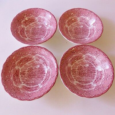 SET 4 STAFFORDSHIRE GRINDLEY ENGLISH COUNTRY INNS BOWLS