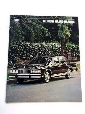 1984 Mercury Grand Marquis Sales Brochure Book
