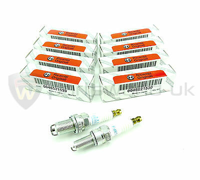 Set of 8 Eight GENUINE Alfa Romeo Twin Spark Spark Plugs 46521529 & 46521530