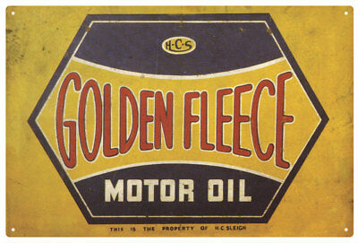 Golden Fleece Hex Motor Oil Vintage  Tin Sign   Large Golden Fleece Hex Tin Sign