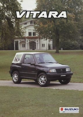 1996 Suzuki Vitara 4x4 Sales Brochure Dutch