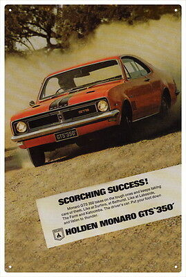 MONARO HG 350 /& HQ 350 COUPE PRO STREET MUSCLE MANIA TIN SIGN Large