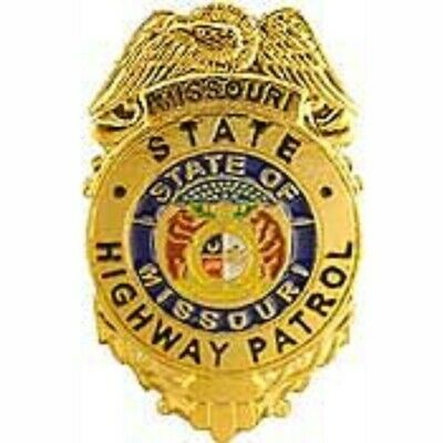 MISSOURI STATE HIGHWAY PATROL OFFICER POLICE BADGE PIN