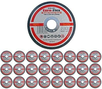 "25 x EURO-FLEX 115mm (4-1/2"") Thin Slit 1.0mm Inox Cutting Discs/Blades,X131-102"