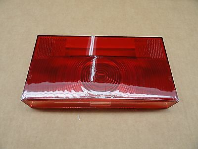 RV/Camper/Trailer - Square Corner Tail Light Lens with License Plate Window