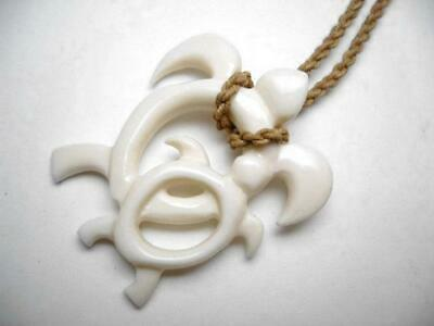 Hawaii Jewelry Flower White Buffalo Bone Carved Pendant Necklace Choker 35433 Jewelry Collectibles Roomburgh Nl