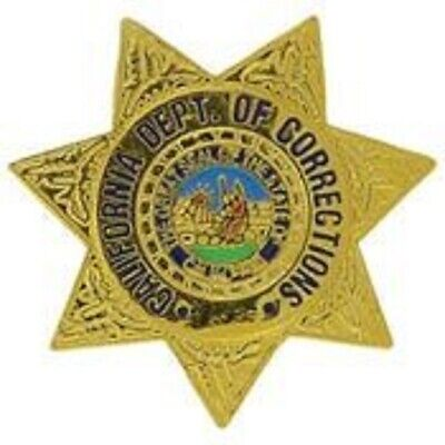 CALIFORNIA DEPARTMENT CORRECTIONS POLICE CDC BADGE PIN