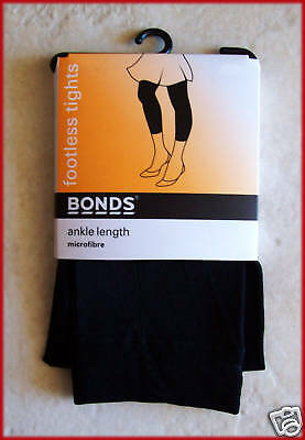 BONDS FOOTLESS TIGHTS Black Ankle Length 7 - 10 yrs NEW