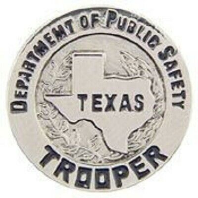 TEXAS POLICE OFFICER TROOPER  LAPEL BADGE PIN
