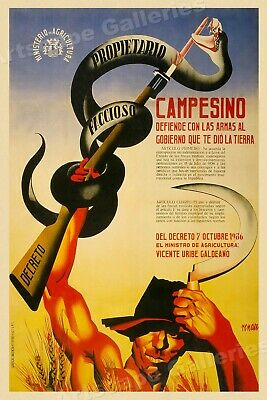 16x24 Poultry Reproduction Vintage Style 1930s Spanish Civil War Poster