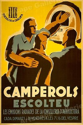 Camperols Escoleteu 1938 Spanish Civil War Poster - 24x36