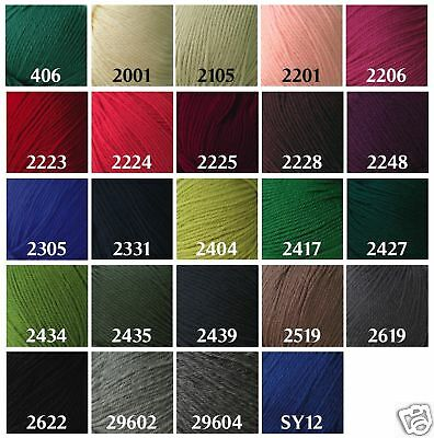 Yarn Place New Paragon Worsted Weight Yarn 100% Pure Wool 500g