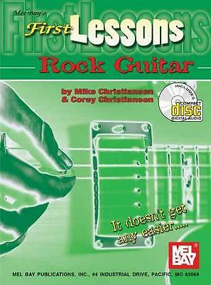First Lessons Rock Guitar Book/CD Set by Christiansen