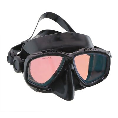 Red or Yellow Color Tinted Corrective Scuba Dive Snorkel Spearfishing Mask