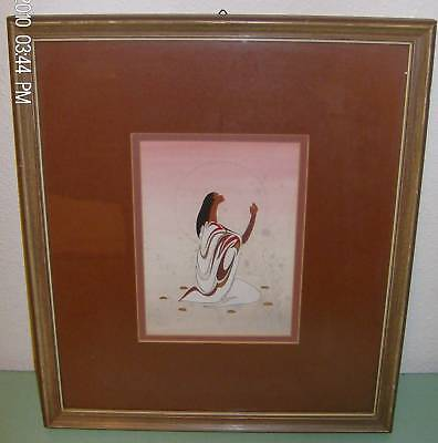 Picture of  American Girl Burgundy Framed Print