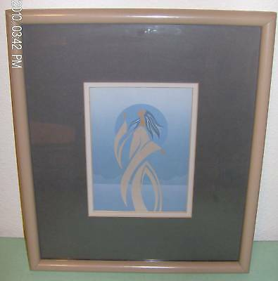 Picture of  American Girl Blue Mat  Framed Print NICE