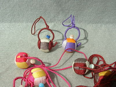 10 hand made pendants for cell phone teapot pattern
