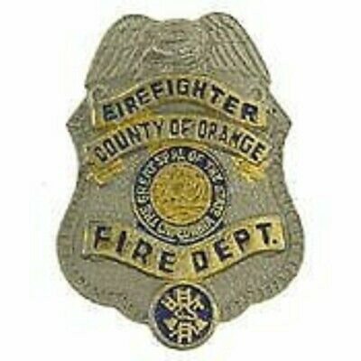 COUNTY OF ORANGE CALIFORNIA FIREFIGHTER FIRE BADGE PIN