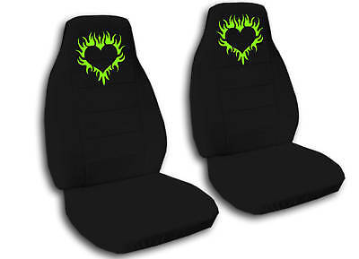 COOL SET FLAME&HEART CAR SEAT COVERS 12 COLORS CHOOSE