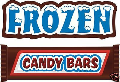 """Frozen Candy Bars Concession Decal 14"""" Food Vendor"""