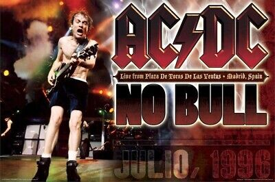 AC/DC ~ MADRID SPAIN NO BULL POSTER 24x36 AC-DC AC DC Music NEW/ROLLED!