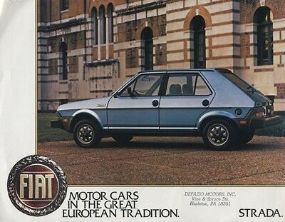 1980 Fiat Strada Ritmo Intro Sales Brochure Sheet