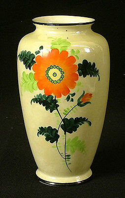 RARE HUGE Luster Ware Vase MARKED Made in Japan FLOWERS