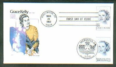 1993 GRACE KELLY US Monaco J/I House of Farnam FDC