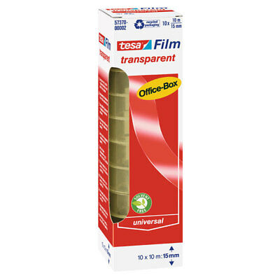 10 X TESA TESAFILM® TRANSPARENT 57370, 15 MM x 10 M