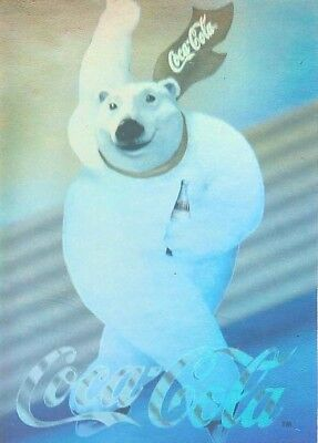 1994 Polar Bear Coca-Cola Hologram Speed Skater Card