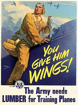 20x30 1943 Planes Overhead Parts Underfoot Vintage Homefront WW2 Poster